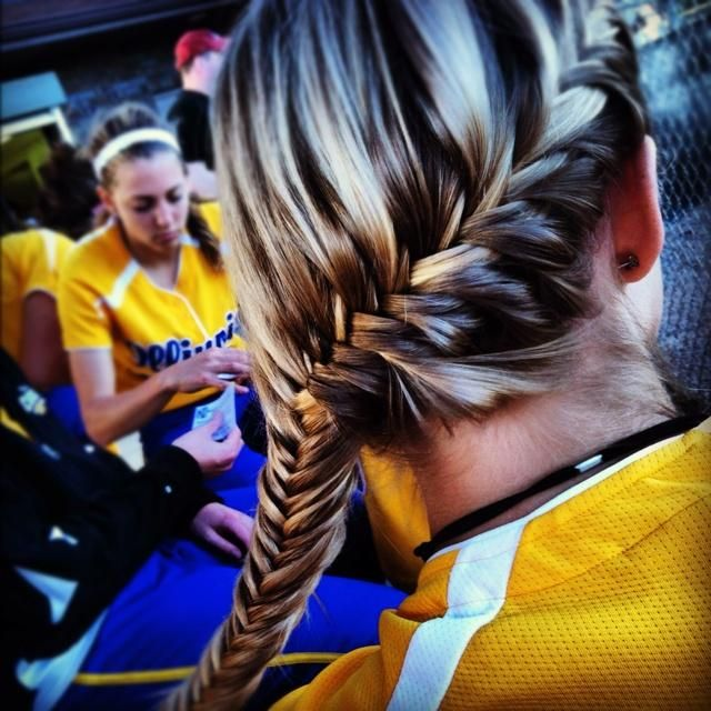 Cute Volleyball Hairstyles For Long Hair : Best sport hairstyles ideas on softball