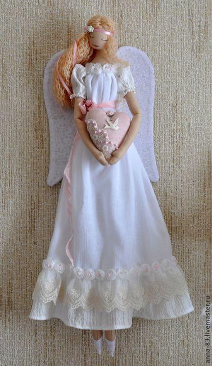 """Коллекционные куклы ручной работы. Заказать Ангел любви, света и добра!. """"Анютины сказки"""". Ярмарка Мастеров. Любовь, кружево"""