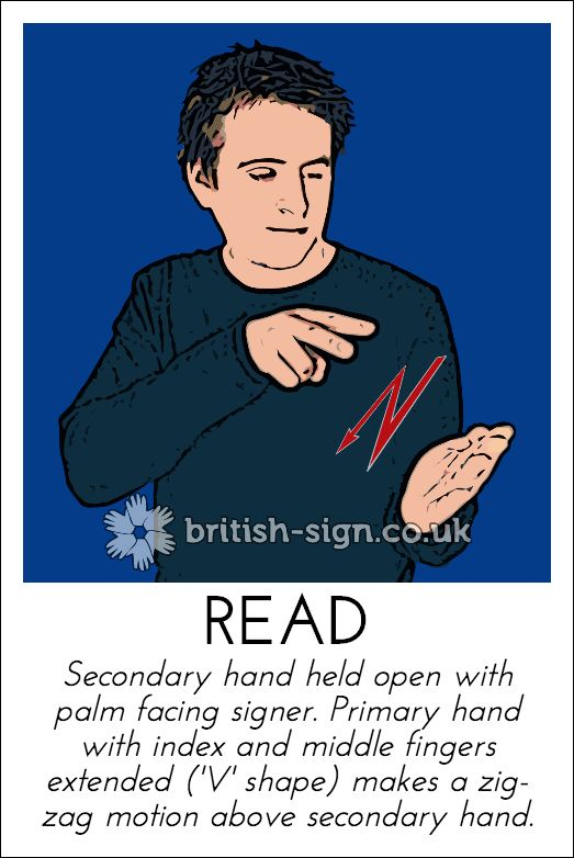 Today's British Sign Language sign is: READ - view more at www.british-sign.co.uk #BSL #BritishSignLanguage