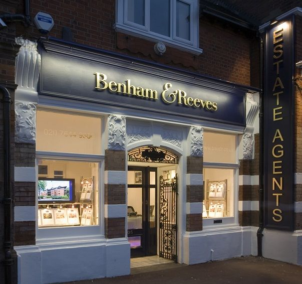Front shop design of Benham & Reeves estate agent