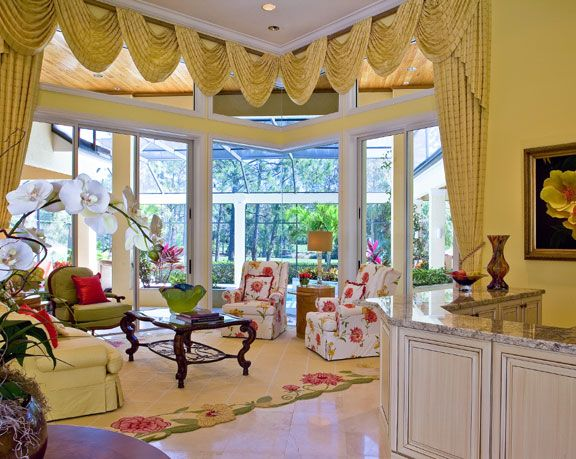Traditional Living Room In A Beautiful Tropical Setting Ficarra Design Living Rooms