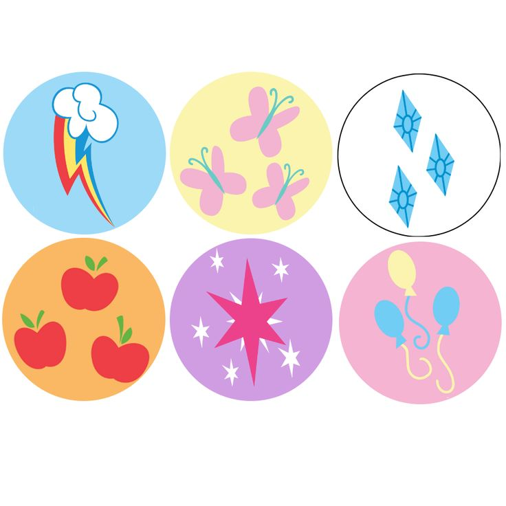 "GeekBadge | My Little Pony Cutie Marks 1"" Buttons 