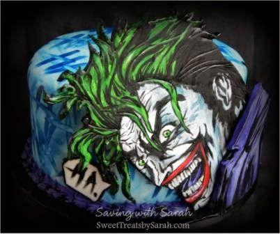 Saving with Sarah: hahahahaha Joker Cake and Comic Book Cookies