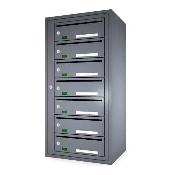 Svenskboxen 1x7  Article number:   SVB17-9995-1000    En komplett postbox med marknadens högsta säkerhetsklass. Svensk-boxen är förberedd för ellåsinstallation som standard och uppfyller användbarhetskraven från Bygg klokt för personer med funktions-nedsättningar.        Svenskboxen är den enda postboxen på marknaden som erhållit den högsta säkerhetsklassen (säkerhetsklass II) vilket innebär att den motstår inbrottsförsök bäst av alla boxar.
