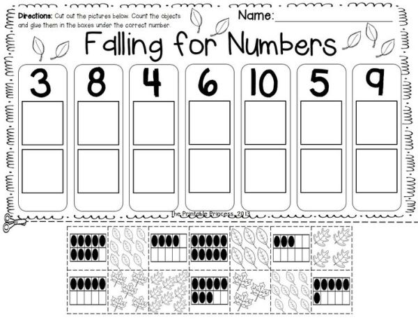 Fall literacy and math centers and activities for