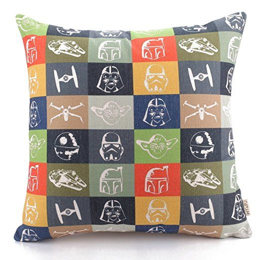 Amazon.de: HT&PJ Dekorativ Baumwolle Leinen Mischung Sofa Kissenbezug Star Wars Storm Trooper Muster 45cmx45cm