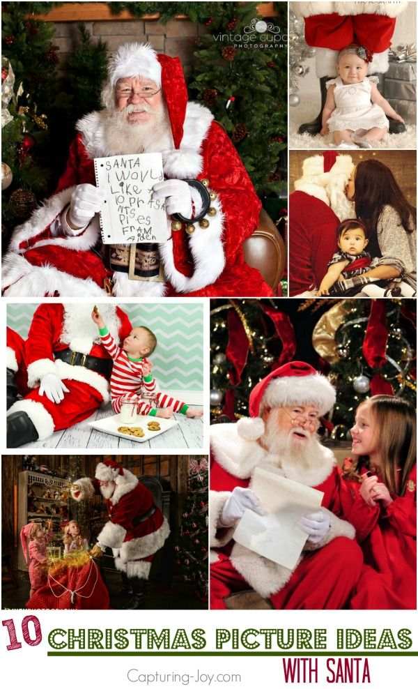 10 Christmas Picture Ideas with Santa| Capturing-Joy.com #santa #picture