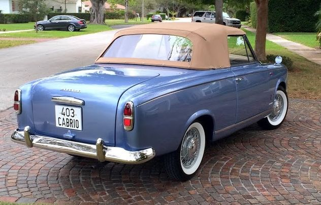1959 Peugeot 403 Cabriolet Grand Luxe by Pininfarina.  v@e.