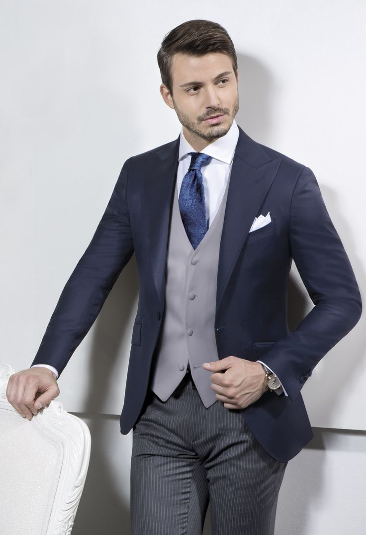Sartoria Rossi - Jacket Half Morning Suit - Dark Blue