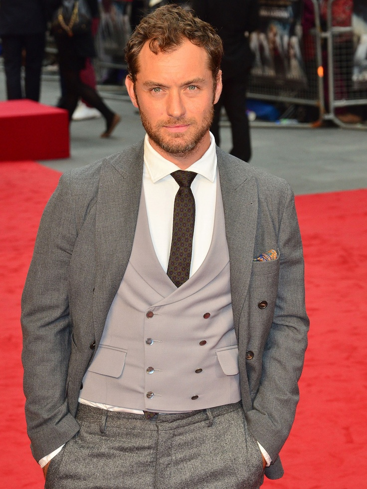 The lovely Jude Law wearing our Favourbrook waistcoat at the Anna Karrenina premiere in London