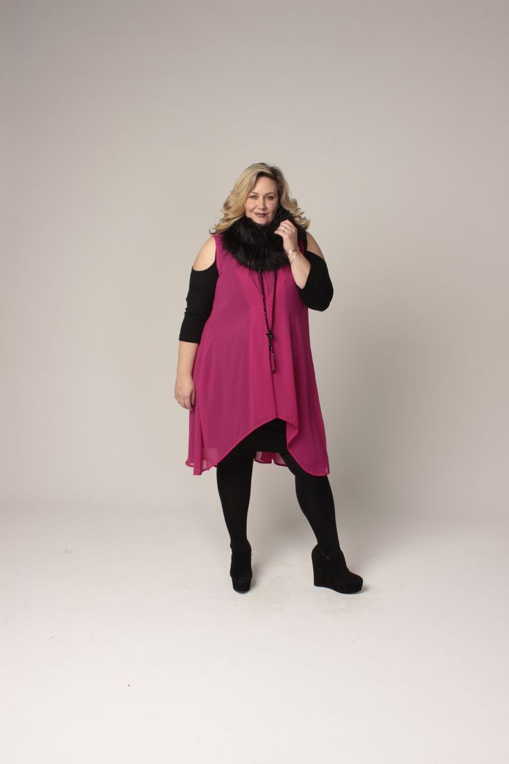the carpenters daughter, cut out mia tunic with ferrari tunic and fur ruff. plus size new zealand fashion
