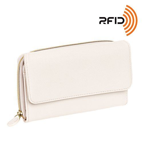 New Trending Purses: Mundi Womens My Big Fat Safe Keeper RFID Clutch Wallet w/ Calculator (Bone w/ Gold Accents). Mundi Womens My Big Fat Safe Keeper RFID Clutch Wallet w/ Calculator (Bone w/ Gold Accents)   Special Offer: $14.99      444 Reviews The Mundi My Big Fat Wallet is stuffed full with essentials to keep the modern women organized. A spacious interior features 8 credit card slots, 5 clear ID...