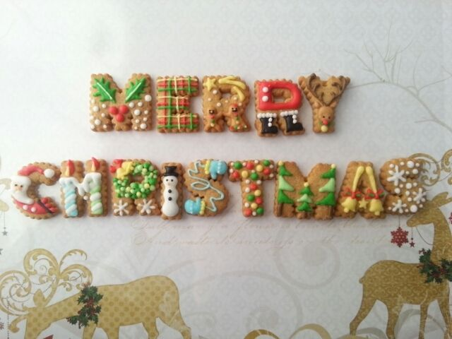 I want to be a good gift ☆ ...... icing cookies  !! 2 icing cookies ☆ part of your friends http://ameblo.jp/funa-6351/
