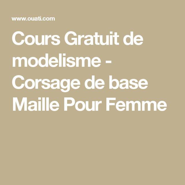 Cours Gratuit de modelisme - Corsage de base Maille Pour Femme