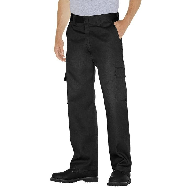 Dickies - Men's Big & Tall Relaxed Straight Fit Twill Double Knee Pants