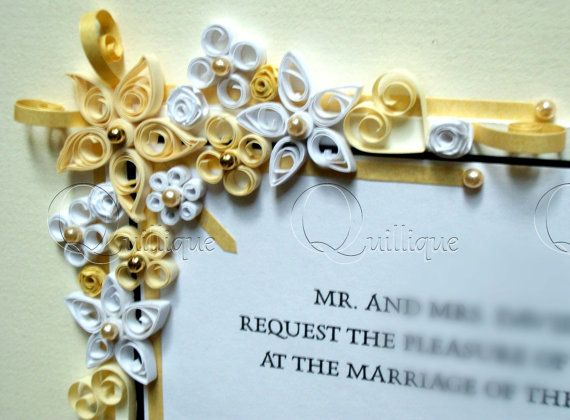 Vintage Style Custom Wedding Gift / Quilled & Framed by Quillique