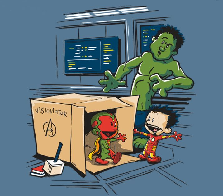 """""""Avengers: Age of Ultron"""" (the creation of Vision) x """"Calvin and Hobbes"""""""