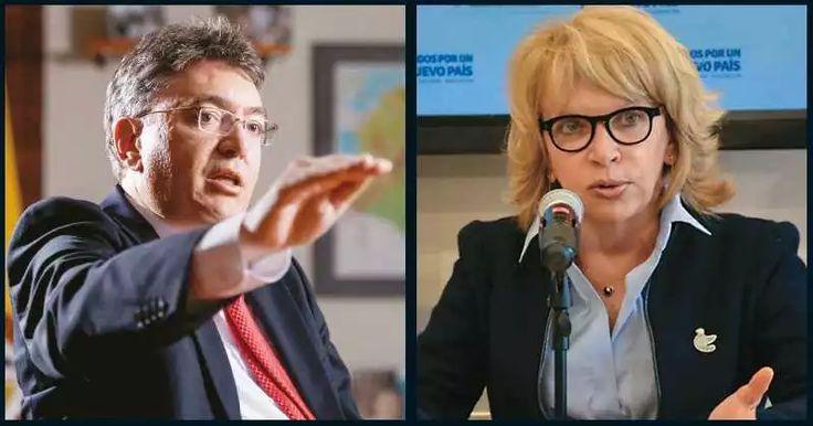 Mauricio Cárdenas y Cecilia Álvarez-Correa.