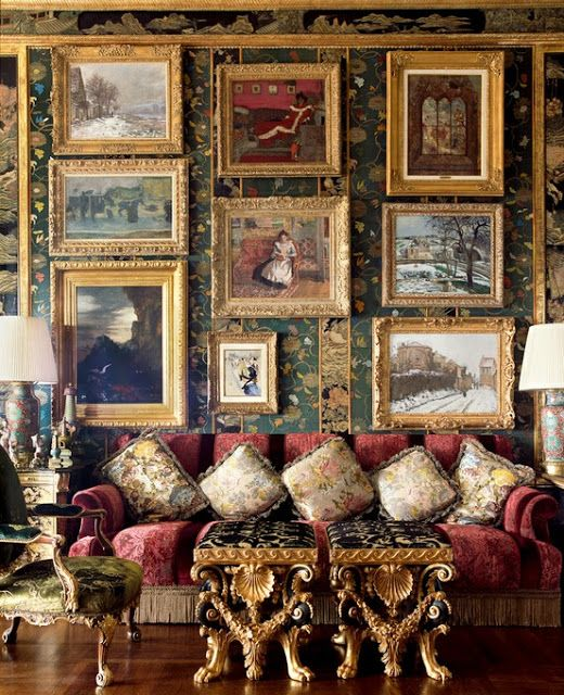 Another gallery wall---fabulous room