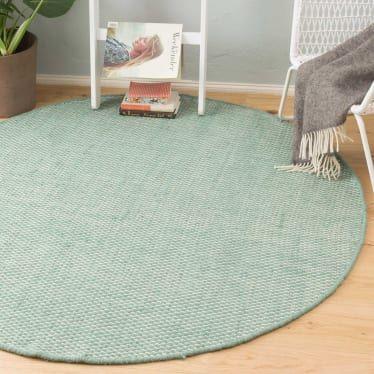Teppich Kilden, Minzgrün/Eierschale mit Wabenmuster | URBANARA