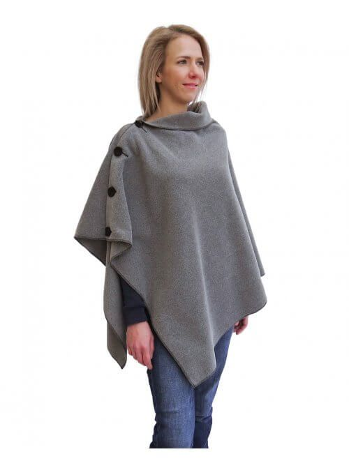 6f1c24a990 The Janska Wellness Wear Erin Poncho soft fleece wrap features a simple