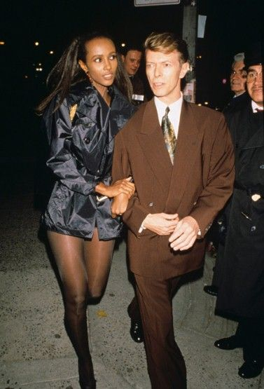 david+bowie+and+iman+daughter+alexandria | David Bowie and Iman, ca.1992