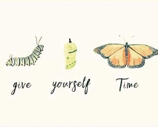 Give yourself time / quotes and phrases, illustration, words and thoughts