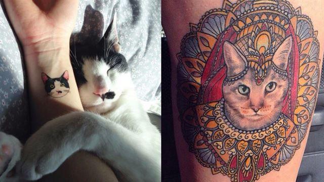 19 fantastiska tatueringar för dig som älskar katter