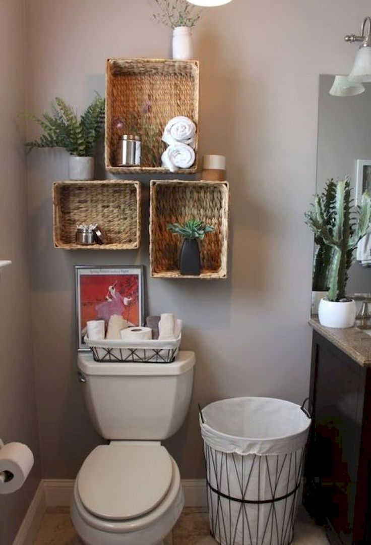Best 25 small bathroom storage ideas on pinterest small - Bathroom storage baskets shelves ...