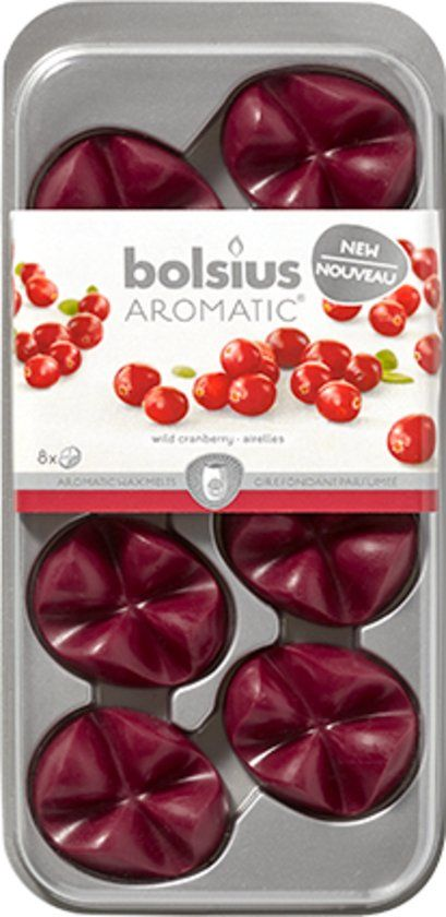 €8,8 Bolsius Aromatic Wax Melts - Wild Cranberry