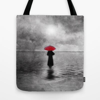 waiting in the sea II  -  by Viviana Gonzalez Tote Bag by Viviana Gonzalez - $22.00