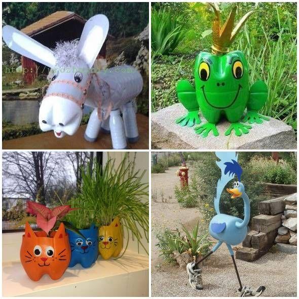 Bichinhos Com Garrafas Plasticas Para Jardim Como Plantar E