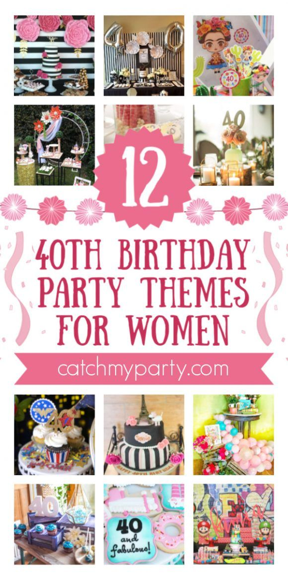 Take A Look At The 12 Best 40th Birthday Themes For Women 40th Birthday Themes 40th Birthday Decorations 40th Birthday Party For Women