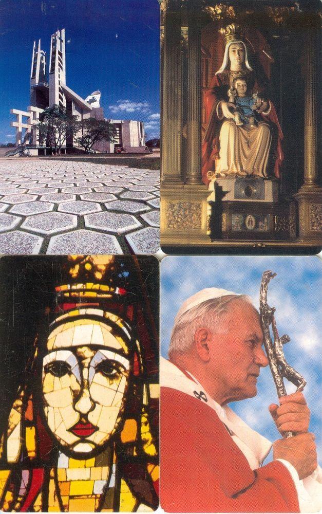 4 Phonecard / Tarjetas Telefonicas Venezuela Cantv Virgen Coromoto y visita Papa