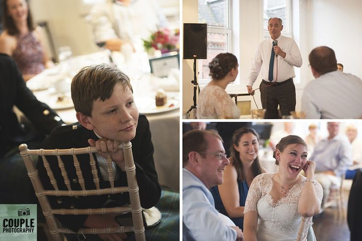 enjoying the speeches. Real Wedding by Couple Photography
