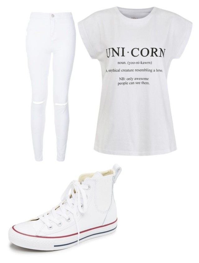 Wh¡te by aniarkdk on Polyvore featuring polyvore, fashion, style, Ally Fashion, New Look, Converse and clothing