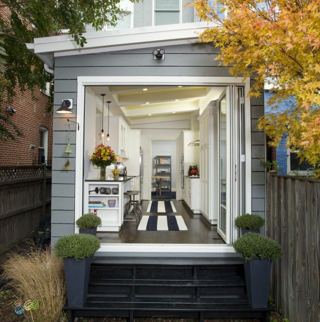 Kitchen with a view or view with a kitchen washington dc for Row house exterior design ideas