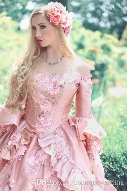 pink victorian ball gowns - Google Search