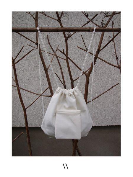 Backpacks – / MINI PLECAK BIAŁY / – a unique product by karolina_konieczna on…