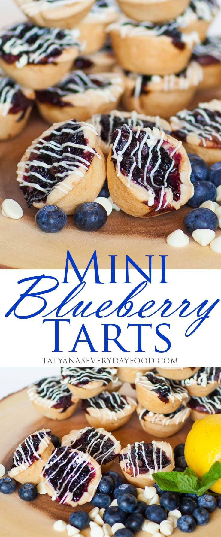 Mini Blueberry Tarts - super easy to make! {Tatyana's Everyday Food}