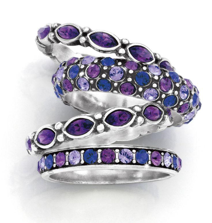 Stack 'em.  Purple's my favorite color!!