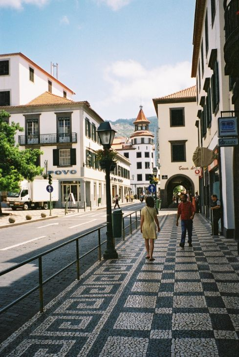 Pavement in Funchal, Island of Madeira, Portugal