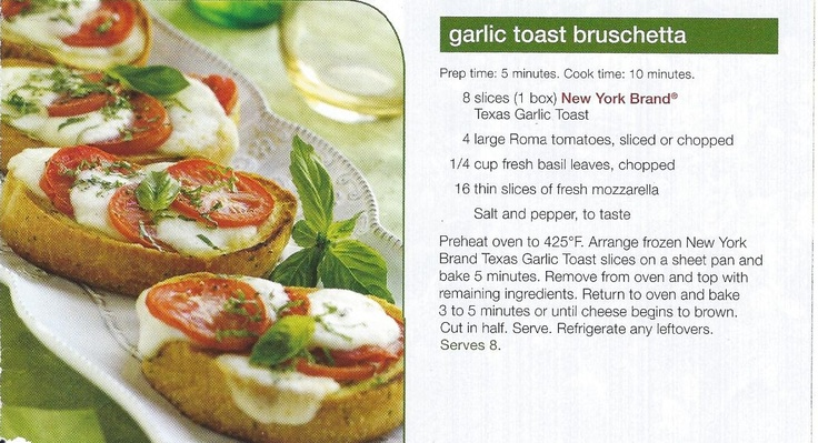 Garlic Toast Bruschetta | A Little Something (Appetizers, Snacks & Sa ...