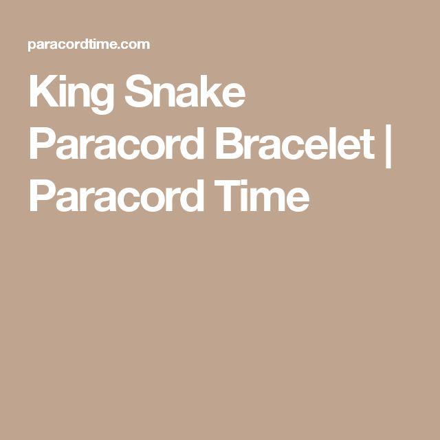 King Snake Paracord Bracelet   Paracord Time