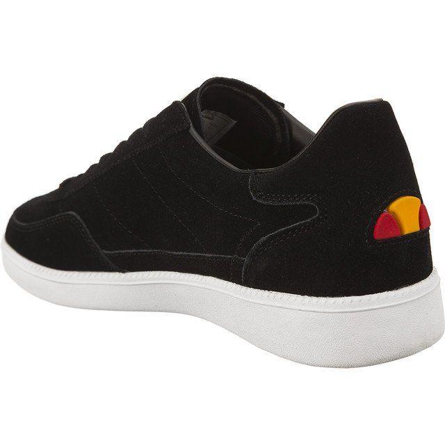 Polbuty Meskie Ellesse Ellesse Czarne Calcio Cupsole Black White Slip On Sneaker Black Ellesse