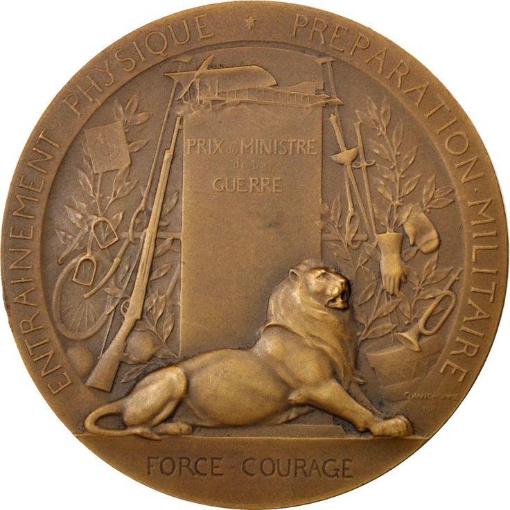 FRANCE, Politics, Society, War, French Third Republic, Medal, AU(55-58),...