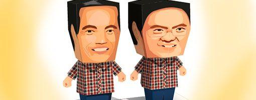 Jokowi - Ahok Paper Craft