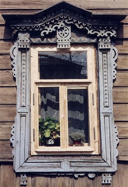 Suzdal window, Russia.