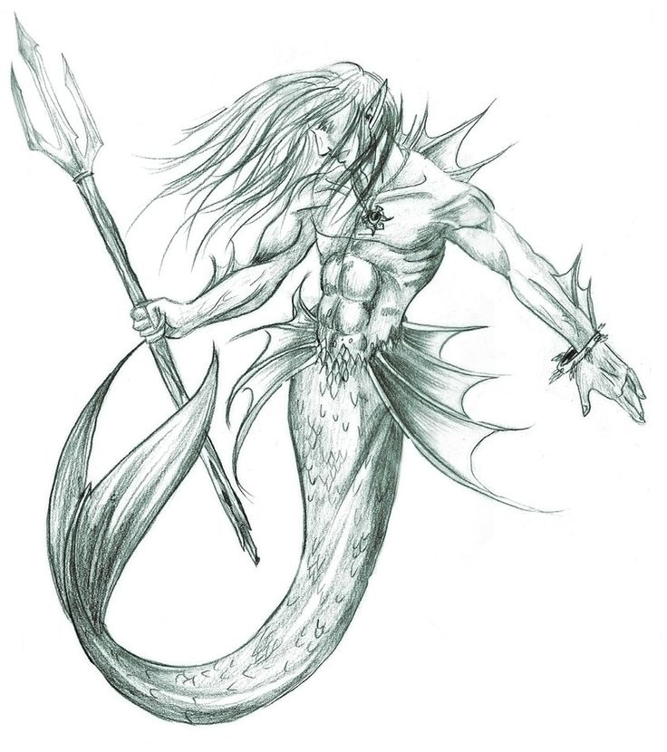 Merfolk Warrior By Walterodim On Deviantart Merpeople