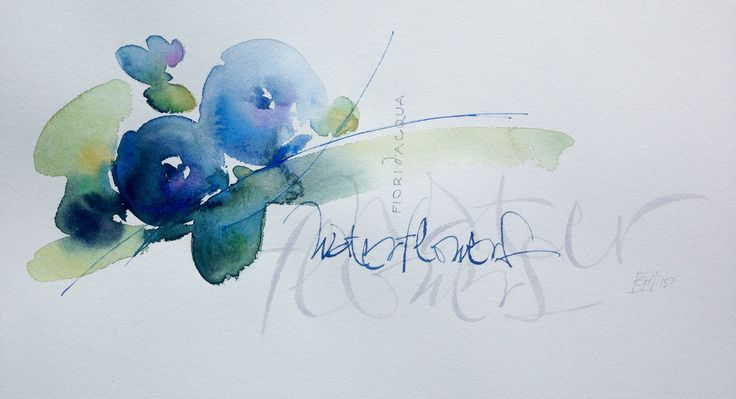 Watercolor and Calligraphy gisella biondani
